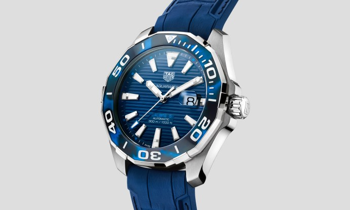 TAG Heuer Aquaracer 43mm Tortoise Shell Effect Calibre 5 Automatic Blue