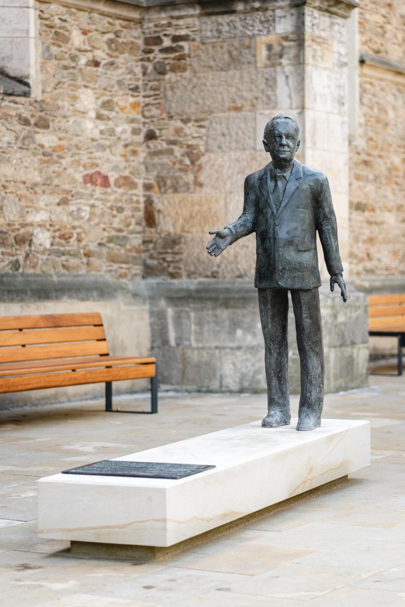 Walter Lange memorial statue in Glashutte