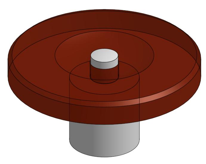 3D representation of a train jewel and pivot