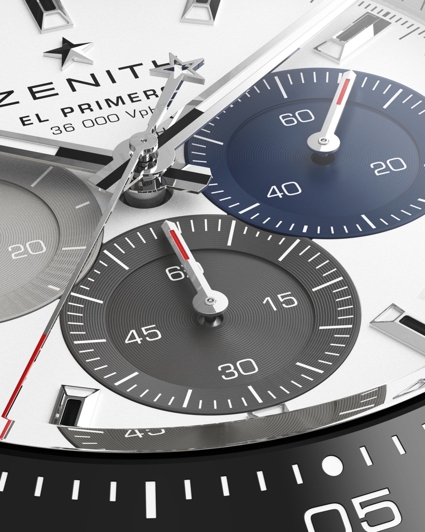 2021 Zenith Chronomaster Sport dial close-up