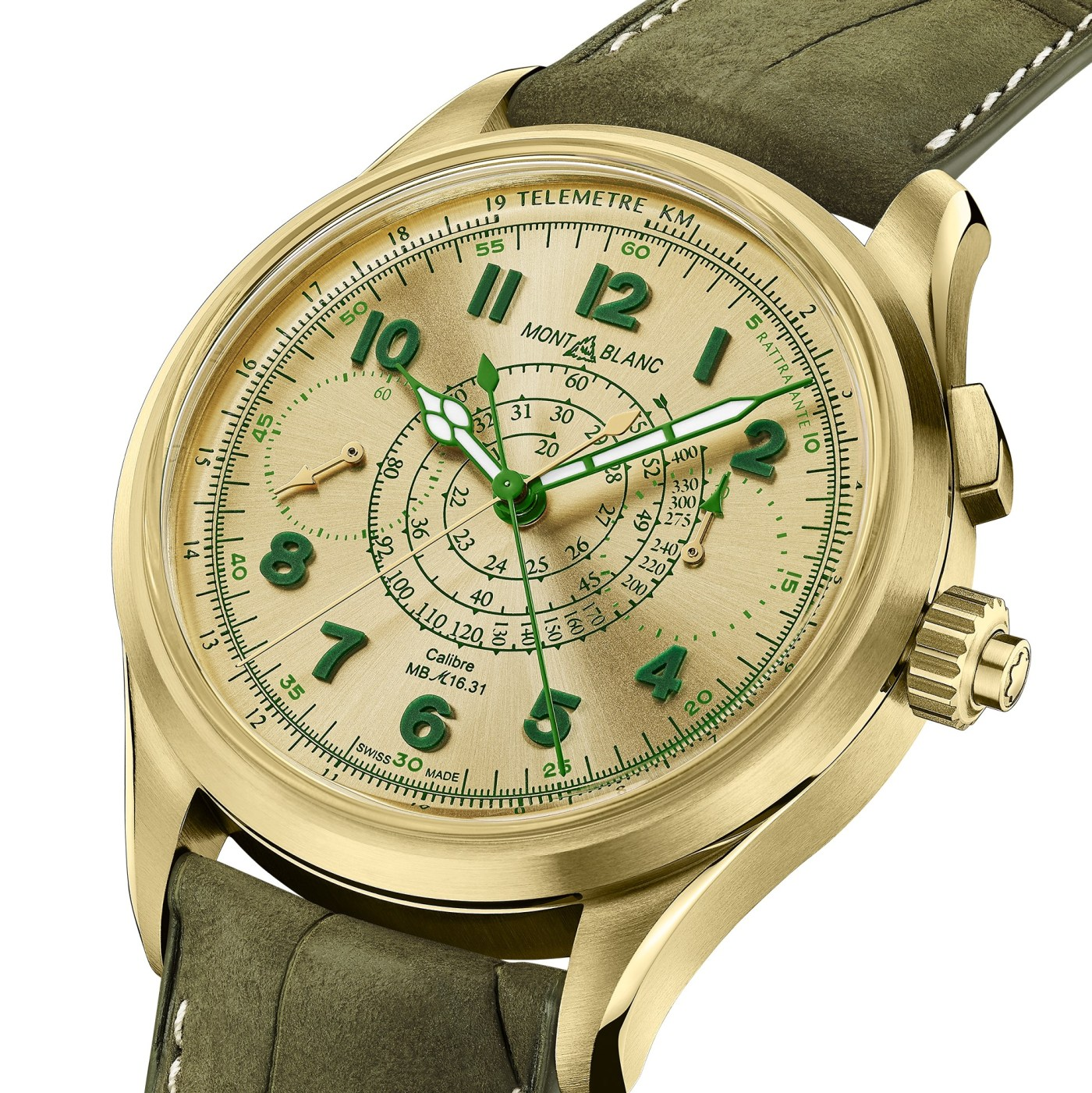 Montblanc Lime Gold 1858 Split-Second Monopusher Chronograph