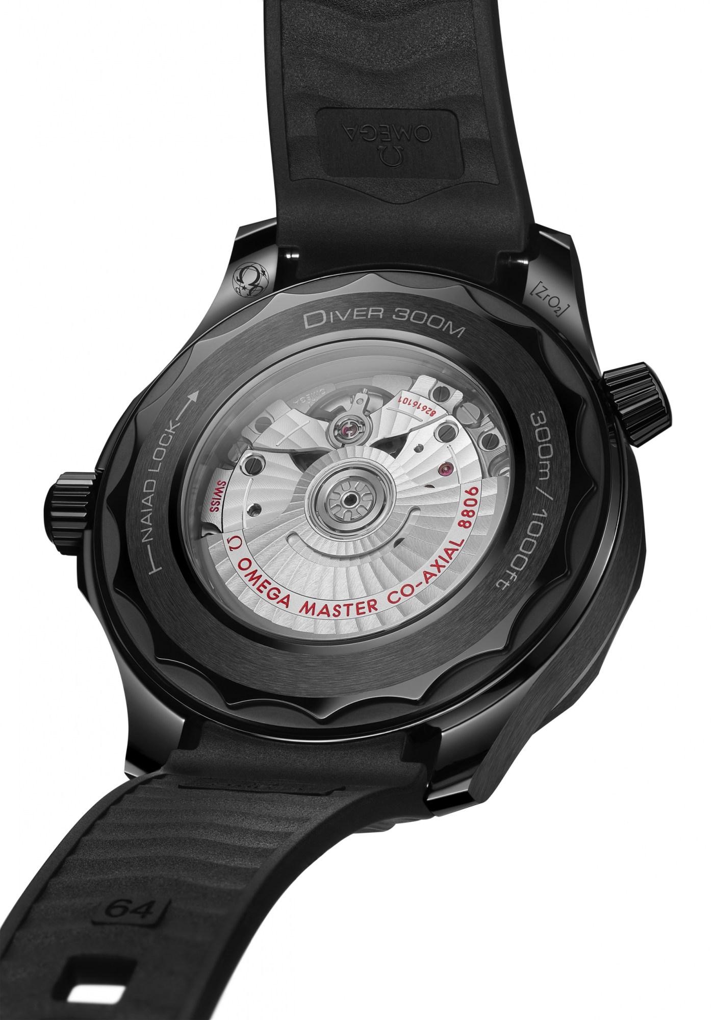 Omega Seamaster Diver 300M Black Black caseback