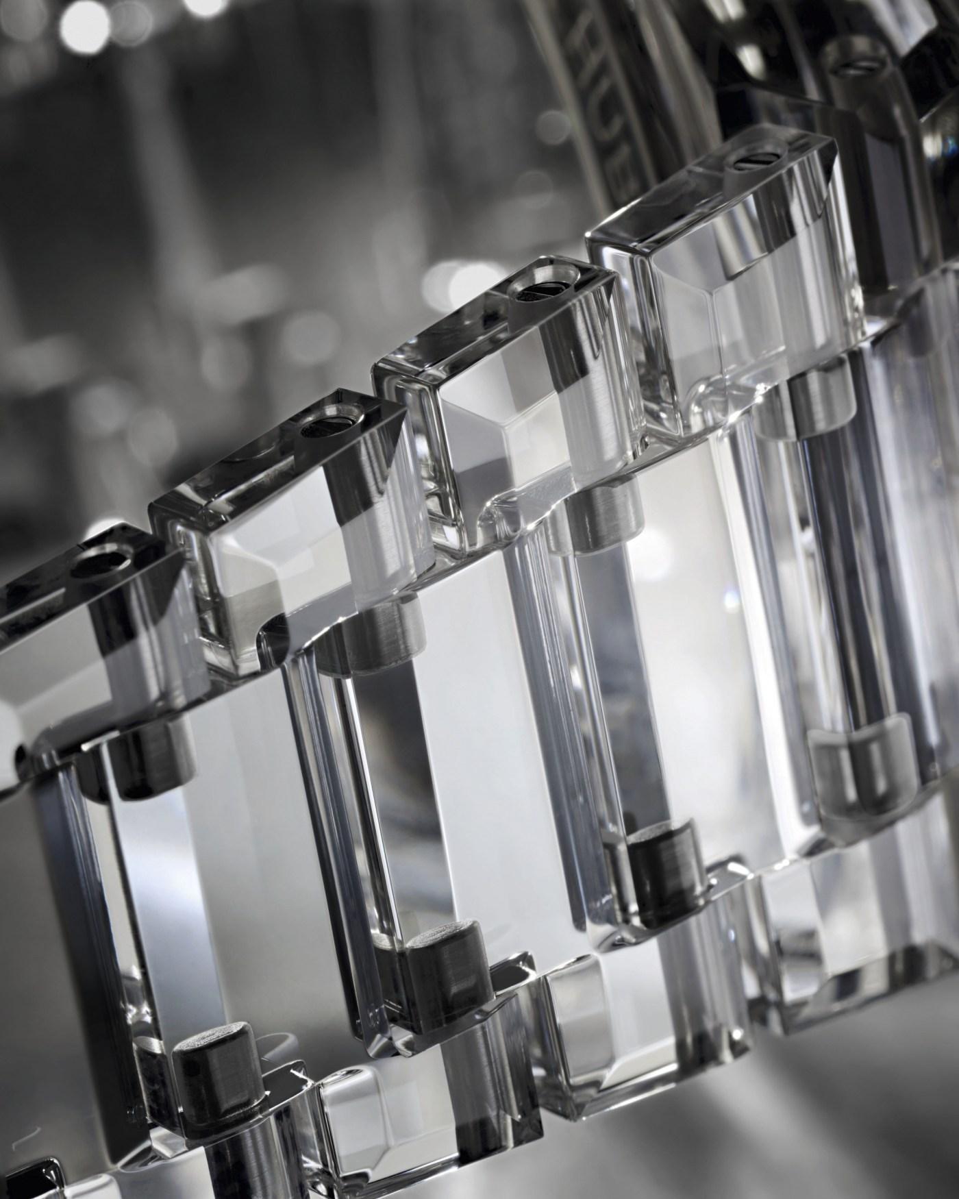 Hublot Big Bang Integral Tourbillon Full Sapphire bracelet close-up