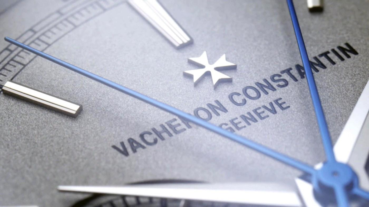 Vacheron Constantin Traditional Platinum Split-Seconds Chronograph dial close-up