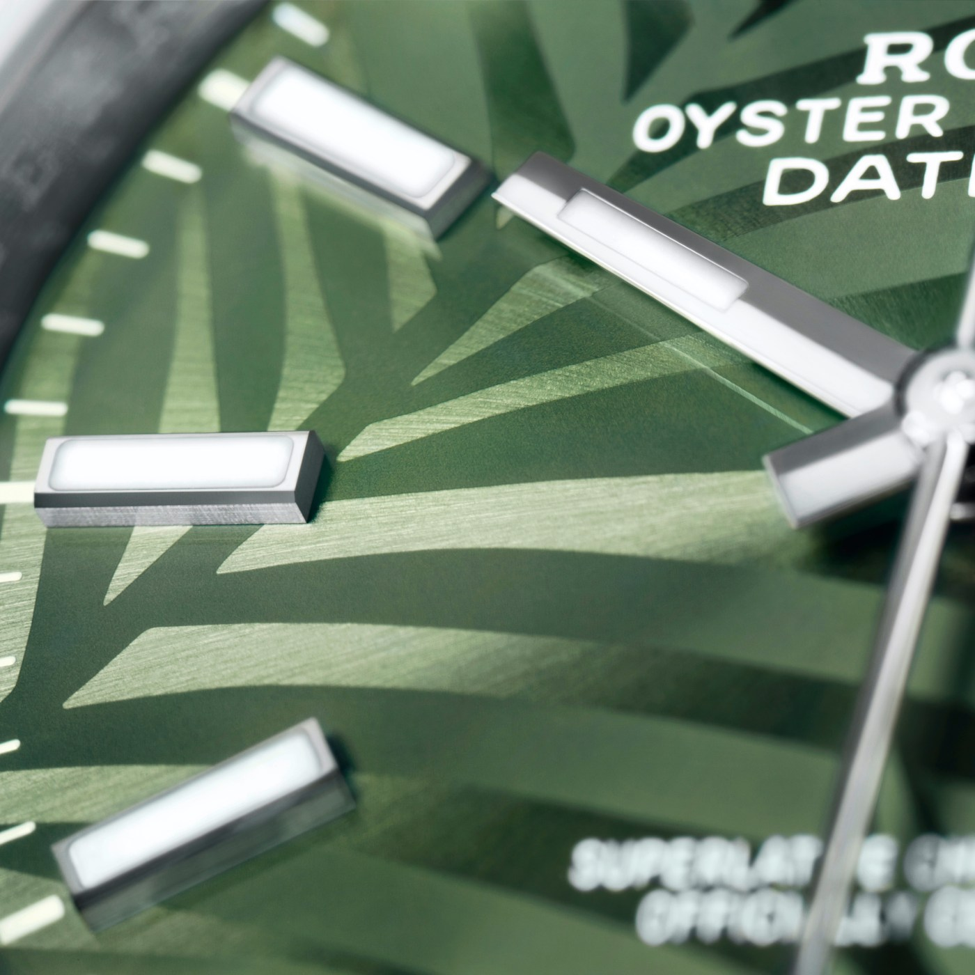 Rolex Datejust 36 Ref. 126200 Olive Green Palm dial