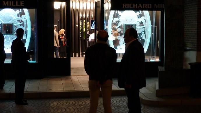 Richard Mille and John Simonian at LA boutique opening in 2011