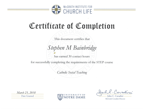 Four Down And Three To Go Until I Earn My Certificate In