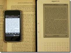 iPhone and Kindle and Book