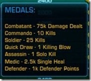 SWTOR PvP Warzone Medals