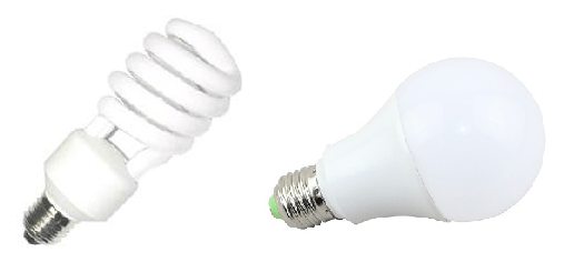 Lamparas CFL y LED