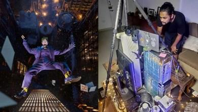 Photo of مصور يستخدم خردة ودمية لالتقاط صورة جوكر يسقط من ناطحة سحاب.. تابعوا اعدادات التصوير والاضاءة