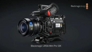 صورة كاميرا سينمائية بدقة 12K من بلاك ماجيك Blackmagic URSA Mini Pro 12K – Super35 BRAW