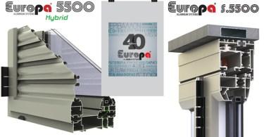 EUROPA PROFIL ΑΛΟΥΜΙΝΙΟ: Θερμομονωτικά Συστήματα 5500 Hybrid, S5500