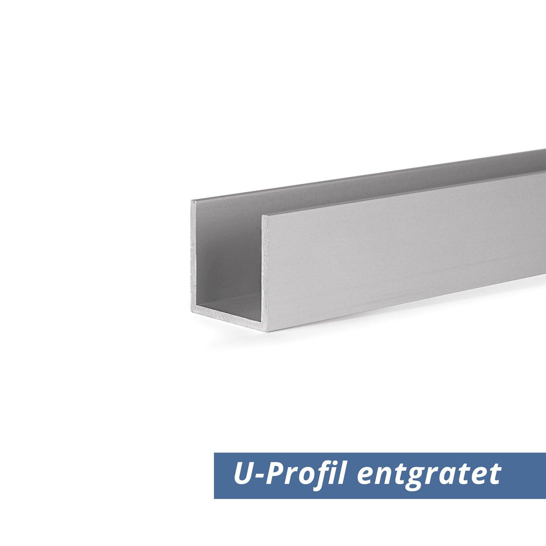 U Profil Aus Aluminium Eloxiert In 20x40x20x2 Mm