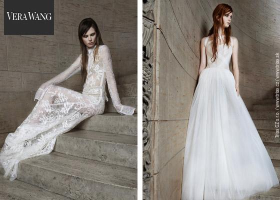 Svatební šaty z nové kolekce módní návrhářky Vera Wang – kolekce pro jaro a léto 2014.