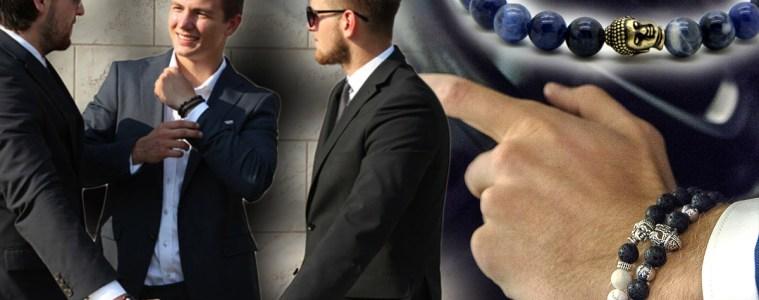 Pánské náramky se nosí z přírodních kamenů. Sortiment s více než 40 modely z pravých přírodních a lávových kamenů nabízí e-shop Decorus.cz.