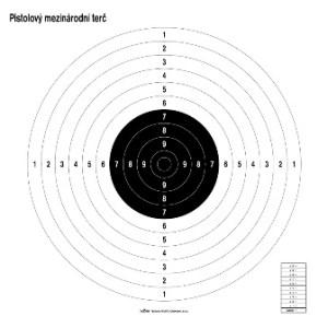 Medzinárodný pištoľový kruhový terč