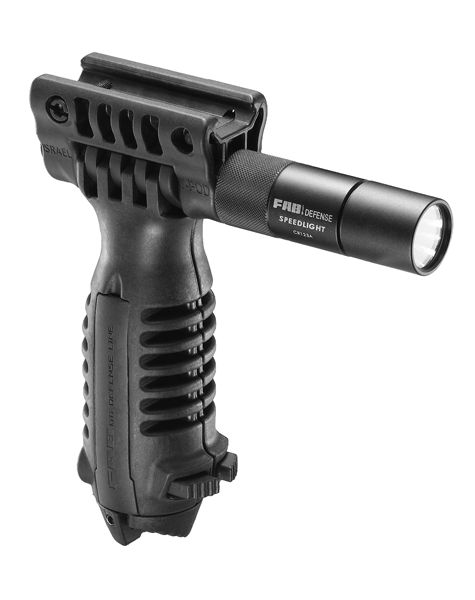 Tactical Bipod Foregrip With Integrated 3V Flashlight