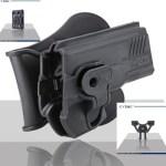 Pištoľové púzdro Cytac pre Glock 27 s pádlom + opasková redukcia + molle redukcia 2