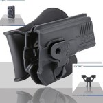 Pištoľové púzdro Cytac pre Glock 43 s pádlom + opasková redukcia + molle redukcia 2