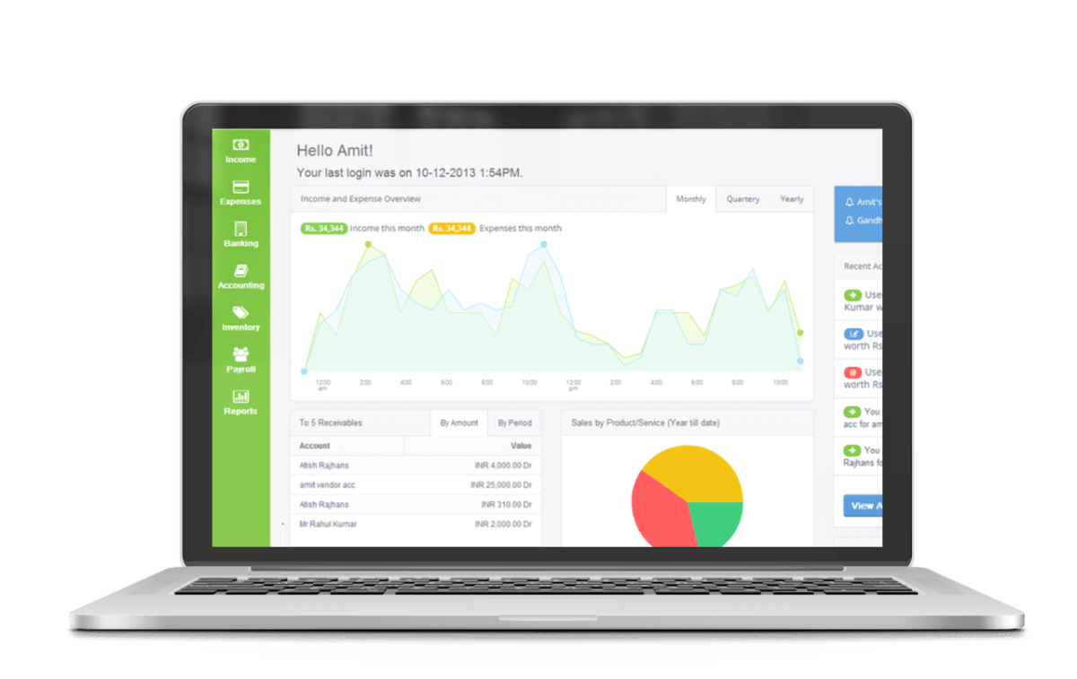 ProfitBooks Invoicing Accounting Inventory Management Software - Invoice software with inventory