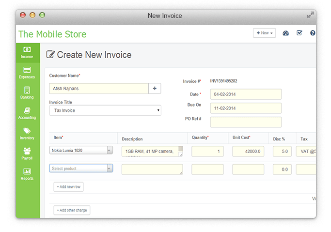 Create Professional Invoices and Estimates