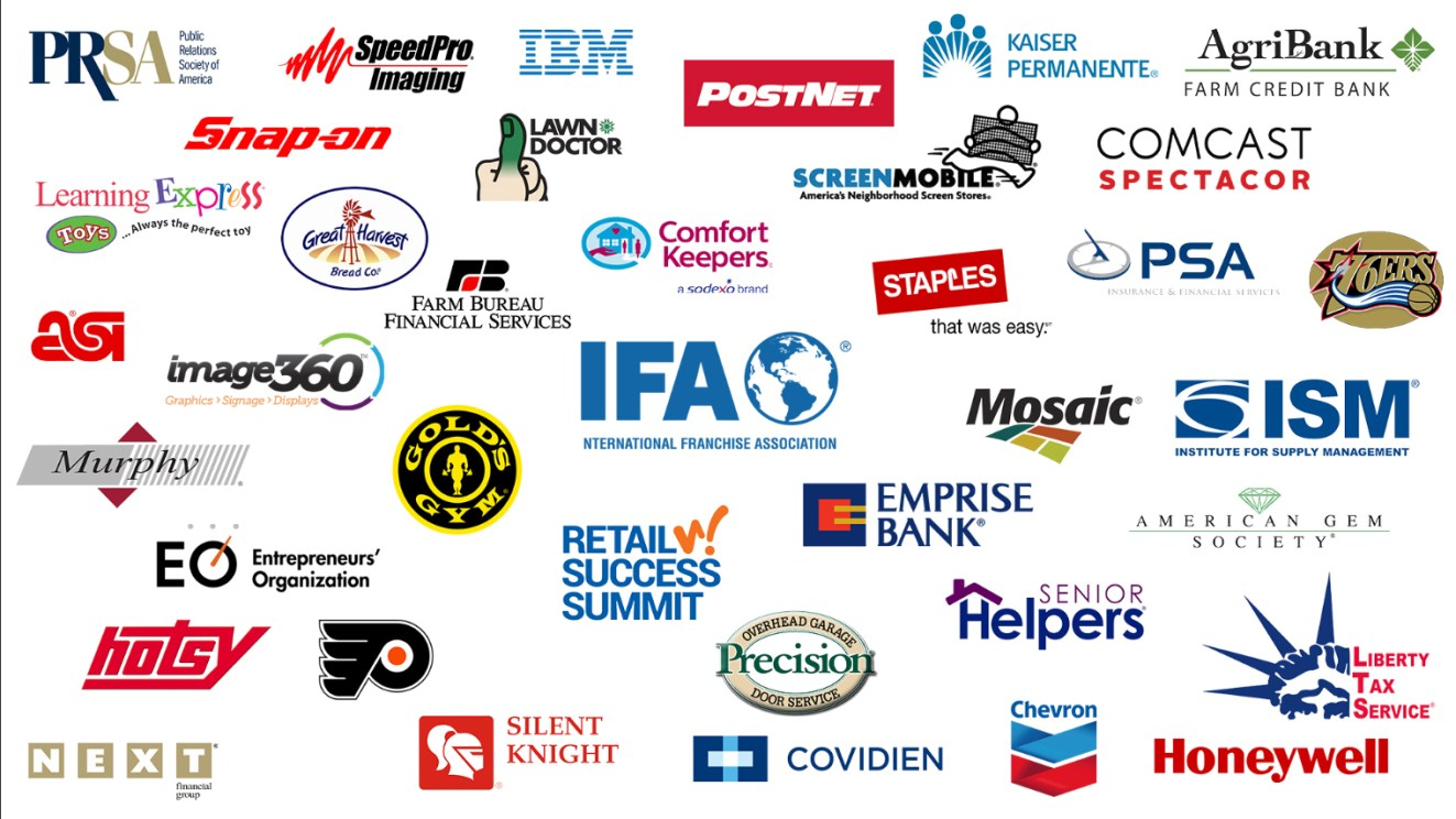 Ford Saeks Speaking Clients - Partial List