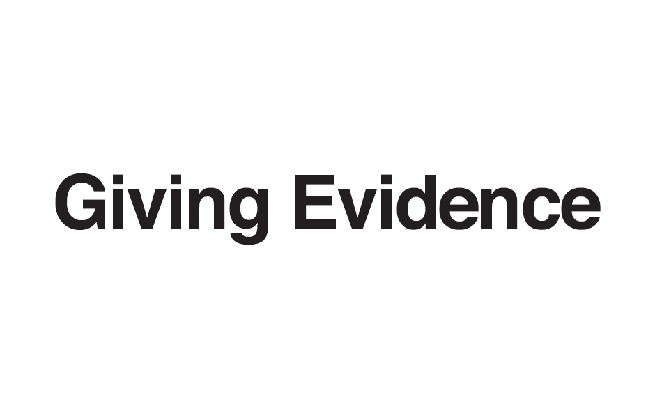 Giving Evidence logo