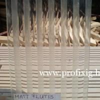 matt flutis üveg