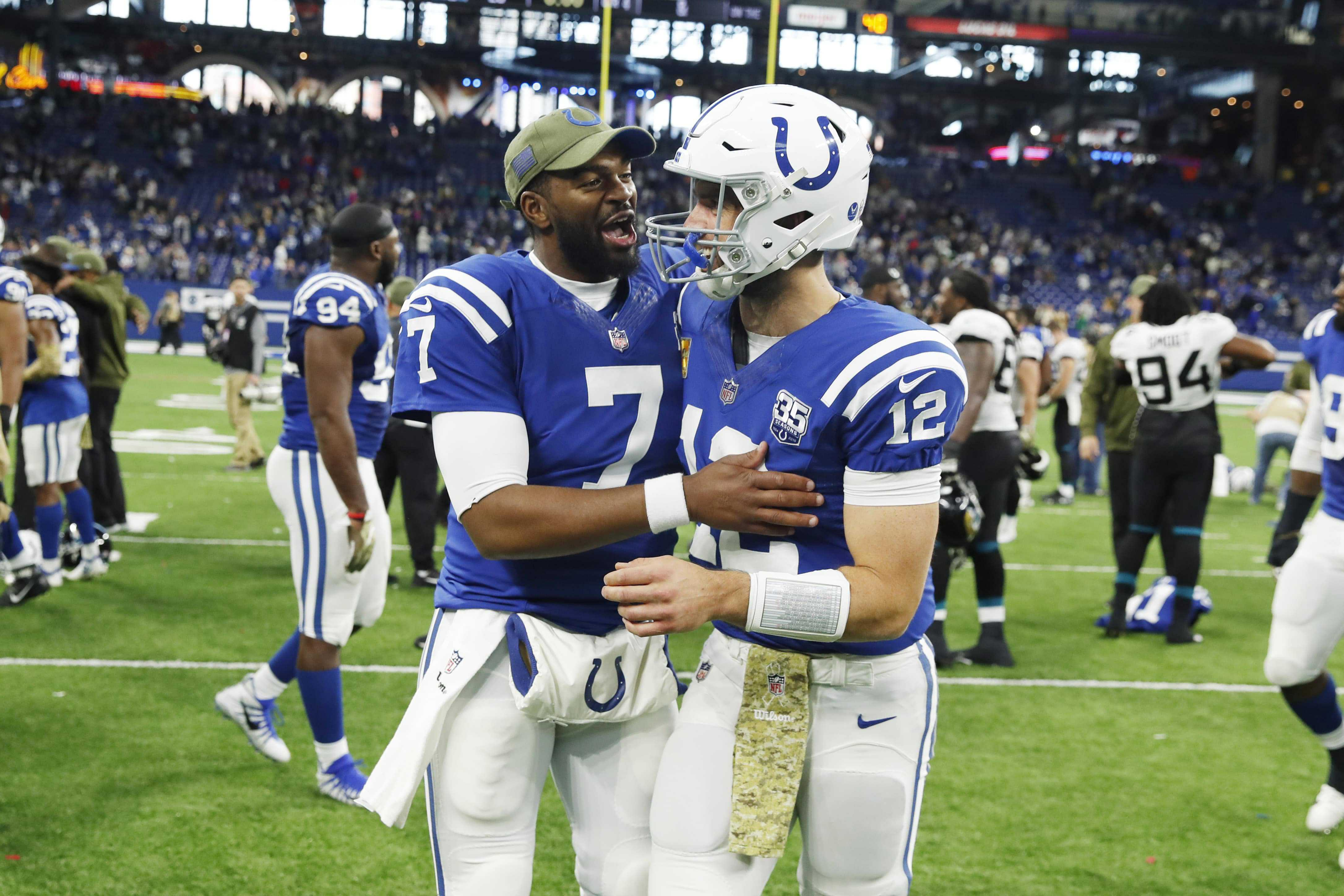 classic fit b3ba7 443ec Indianapolis Colts: Jacoby Brissett is no slouch (PFN Film Room)