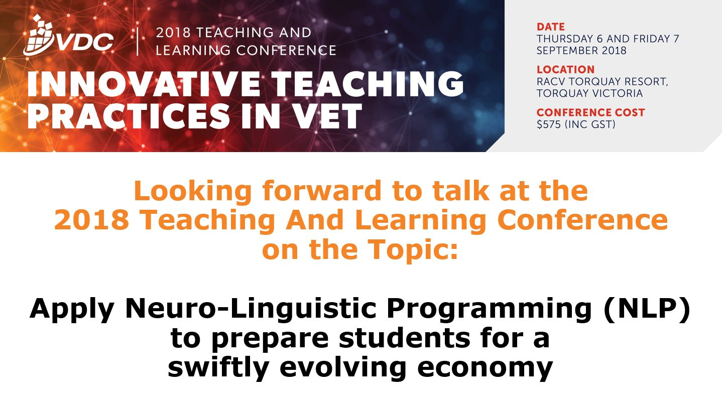 2018 VET Development Centre Teaching and Learning Conference Professional Development