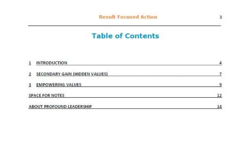 Result Focused Action TOC - Professional Development - Leadership Skills - book - resource - pdf download