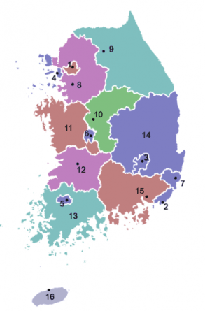 provinces_of_south_korea