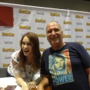 Andrew F. Herrmann with Felicia Day at Megacon Orlando 2017.