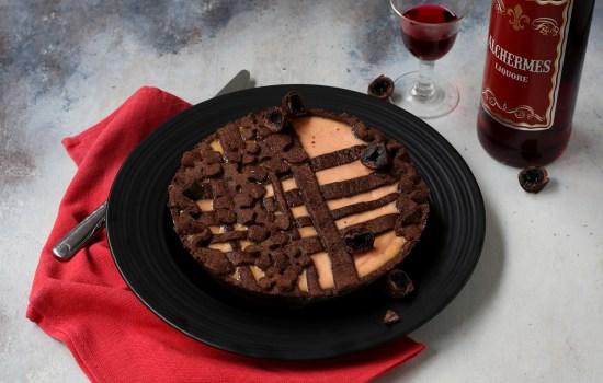 Crostata ricotta e amarene – con frolla al cacao