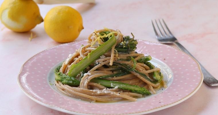 Spaghetti con agretti e asparagi – primo primaverile