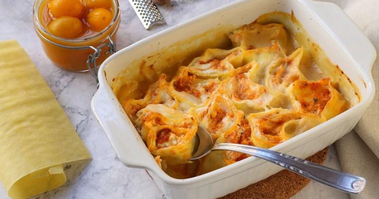 Rotolini di lasagna – con pesto di pomodori secchi e ricotta