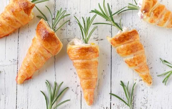 Cannoli rustici di pasta sfoglia – a forma di carotine