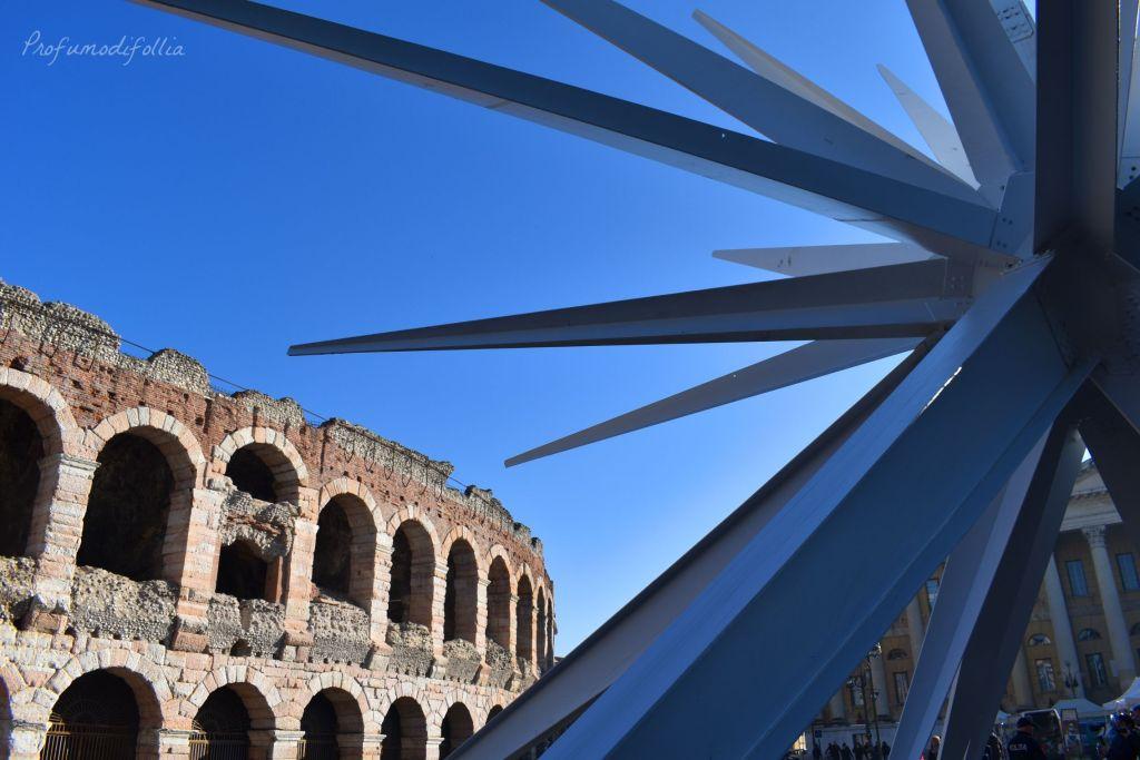 Verona a Natale: l'Arena di Verona e la stella