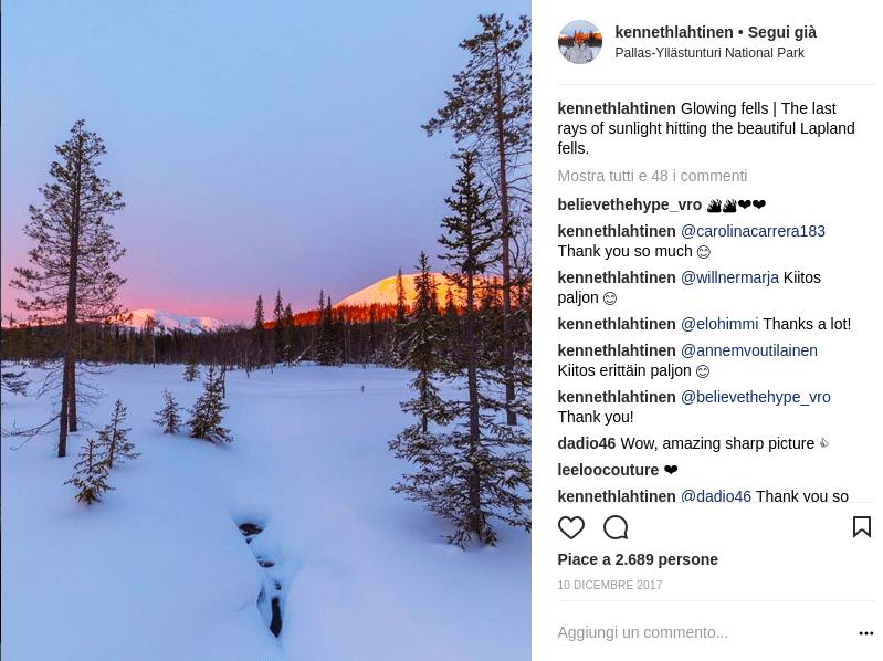 finlandia su instagram