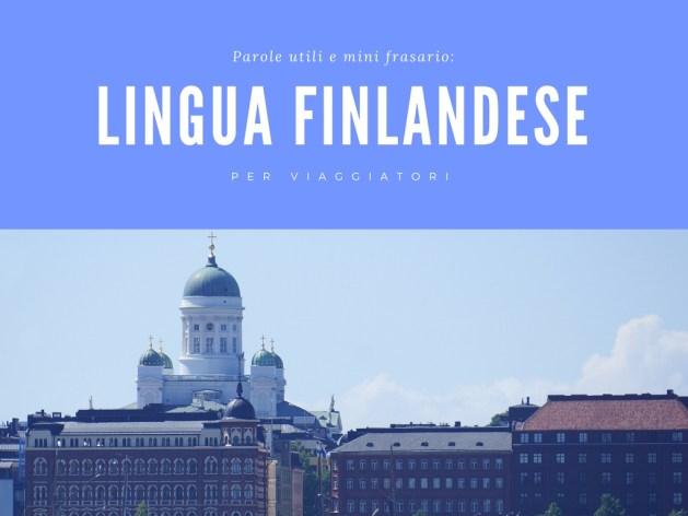 lingua finlandese per un viaggio in Finlandia