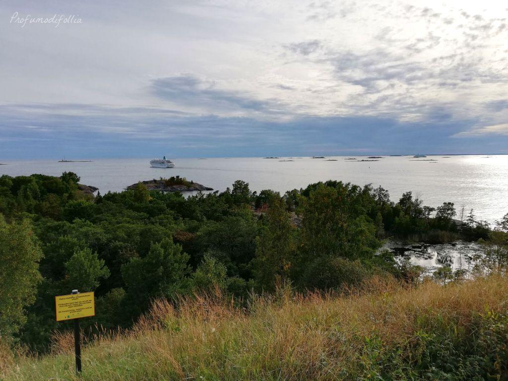 Vallisaari, vista sul mare