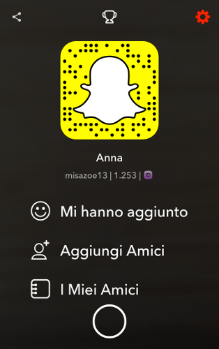 Modifica account Snapchat