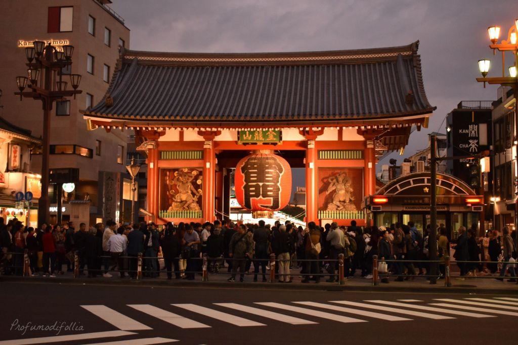 Visita ad Arashiyama e arrivo a Tokyo: ingresso al tempio Senso-ji, Kaminarimon