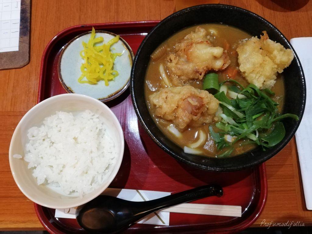 Visita ad Arashiyama: pranzo con ramen al curry, pollo in tempura, riso bianco