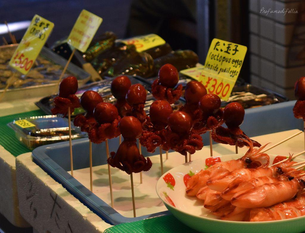 Alla scoperta di Kyoto, diario di viaggio - mercato Nishiki a Kyoto