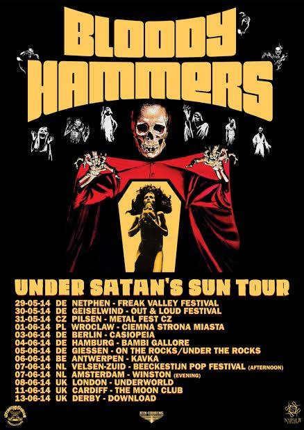 Bloody Hammers tour poster