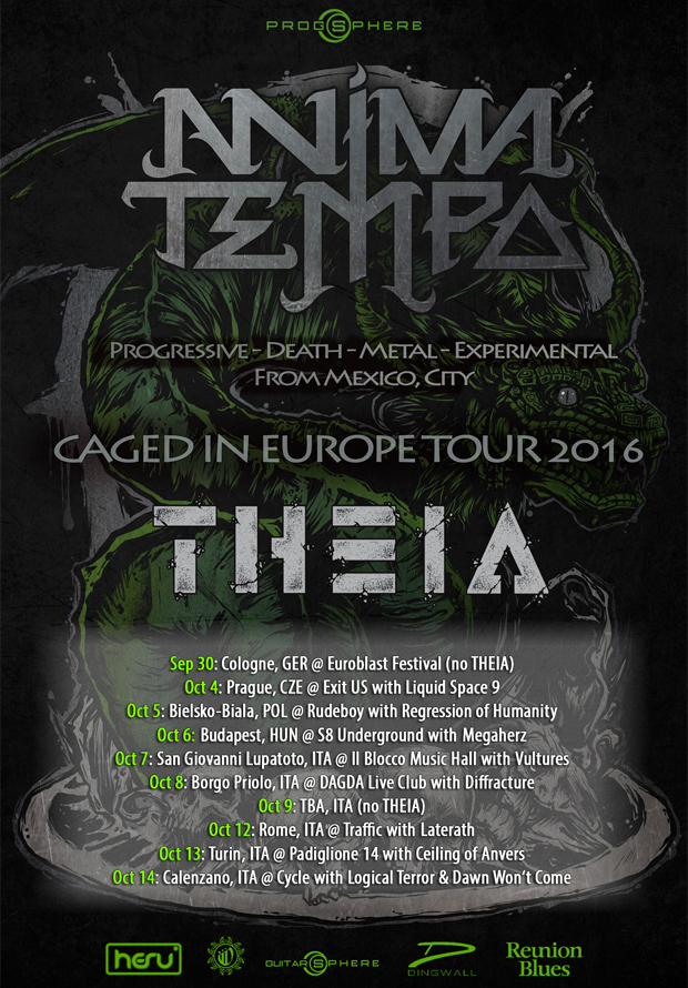 Anima Tempo - Caged In Europe tour poster