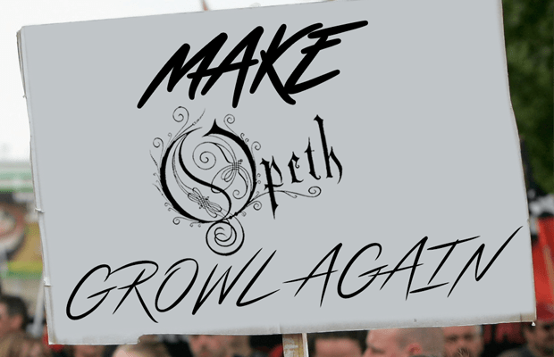 Opeth fans protesting