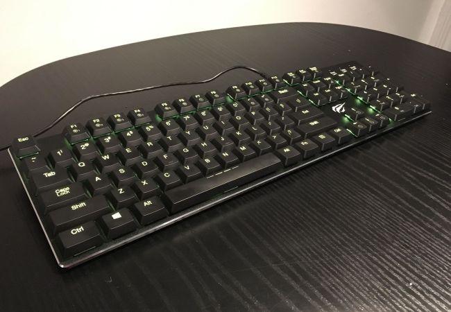 green LED backlights on keyboard